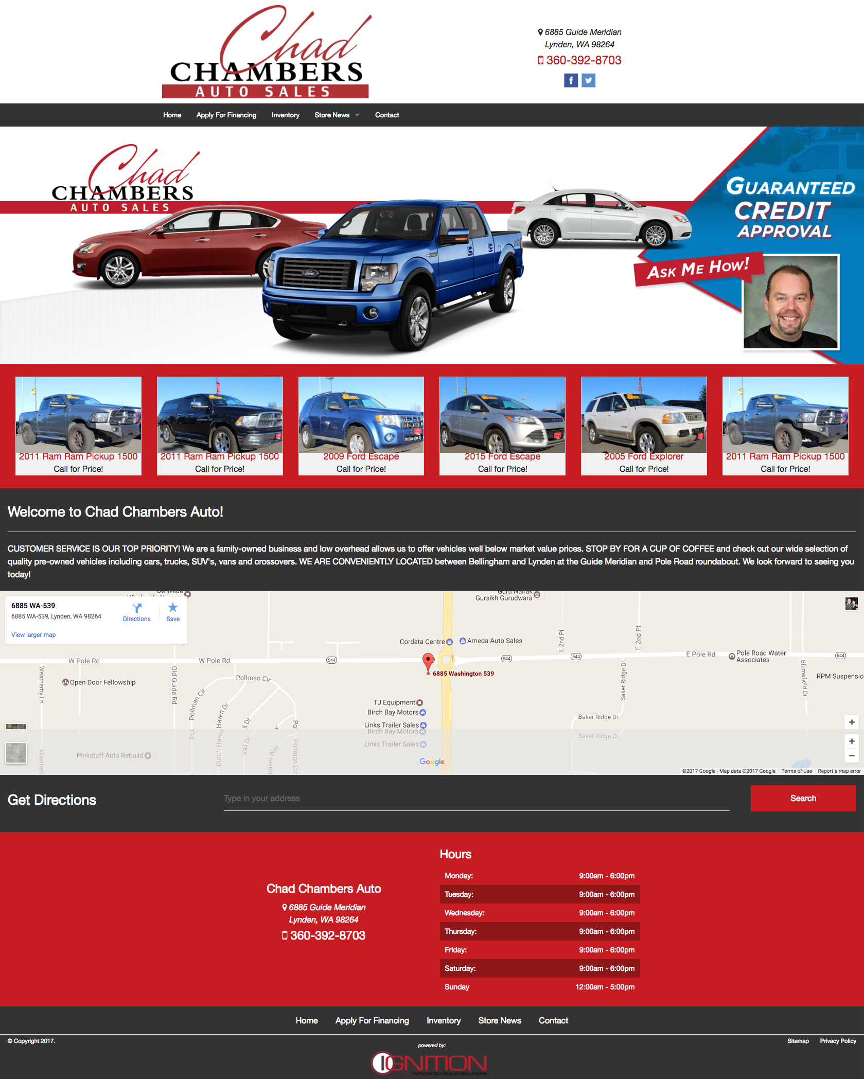 Responsive Automotive Dealer Website Templates - Ignition