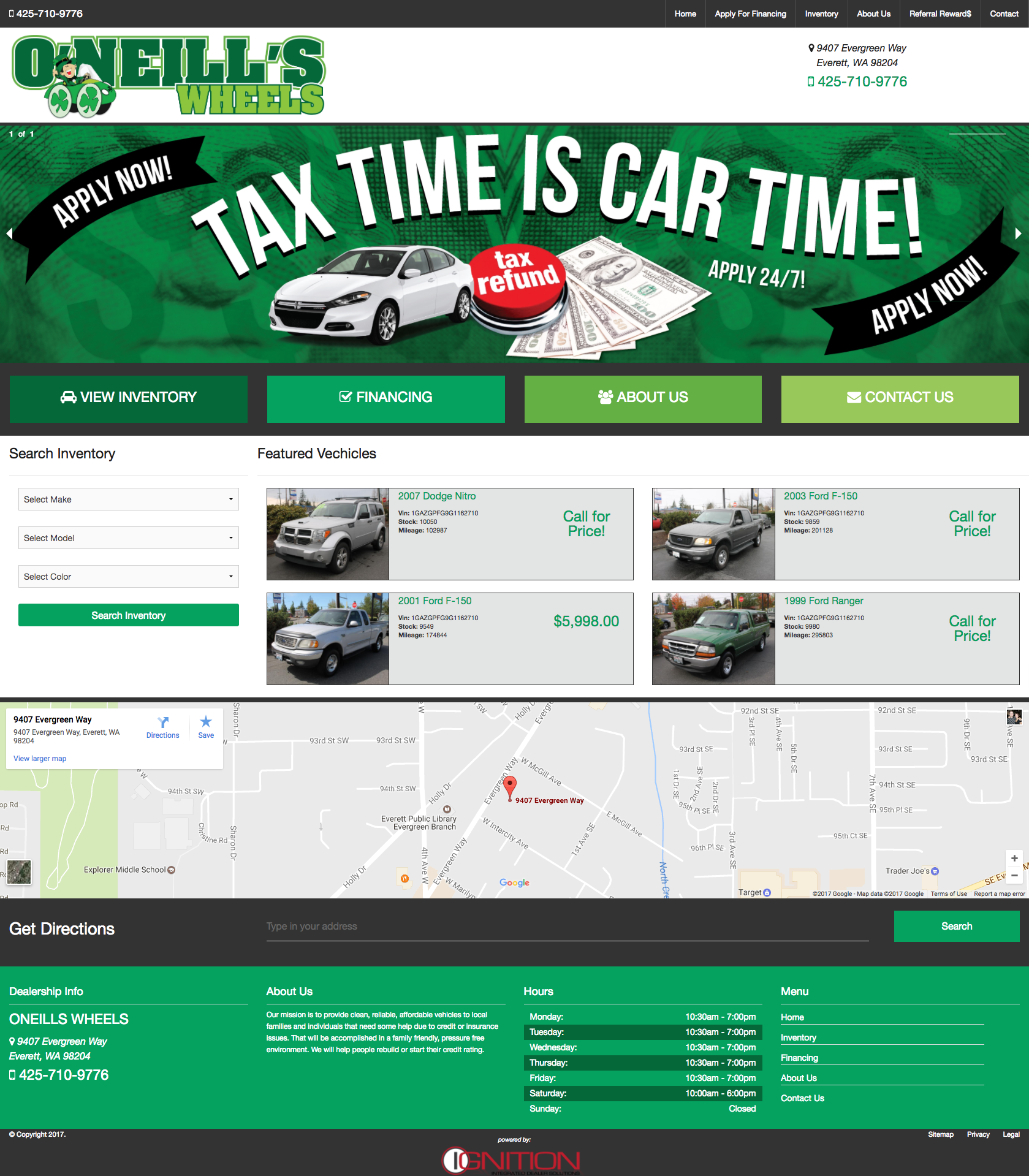 Responsive Automotive Dealer Website